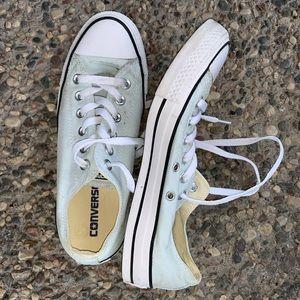 Mint Blue Converse Sneakers
